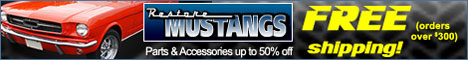Restore Mustangs - Auto parts, restoration products and accessories!