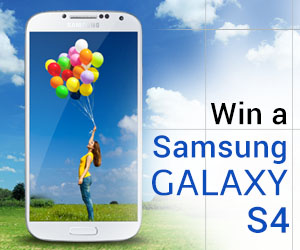 Enter for FREE Win a Samsung Galaxy S4