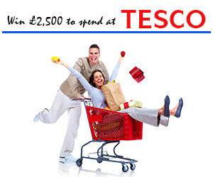 Win £2,500 to spend at TESCO