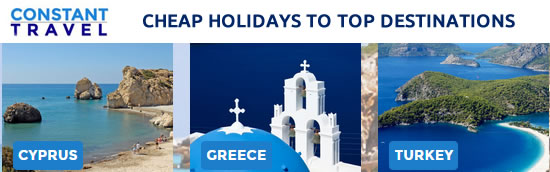 Constant Travel - Cheap Holidays to Cyprus, Greece, Turkey, Spain, Egypt, Croatia, Malta...
