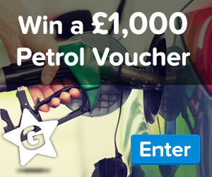 Win a £1,000 Of Free Petrol Vouchers