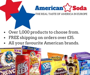 160465 American food and drink | Directly from the US to the UK