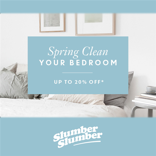 slumberslumber.com - Up to 20% off in Spring Clean Your Bedroom event now on