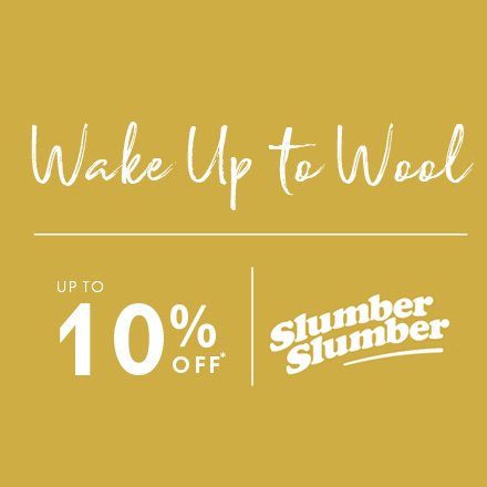 slumberslumber.com - Wake up to the benefits of wool bedding this Wool Month with up to 10% off selected lines