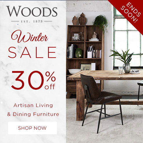 woods-furniture.co.uk - Get 30% Off all Reclaimed Pine, Sustainable Living & Dining Furniture in our Winter Sale