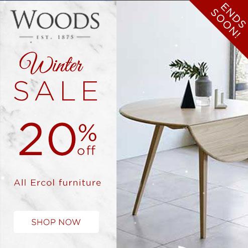 woods-furniture.co.uk - Winter Sale 20% All Ercol Furniture