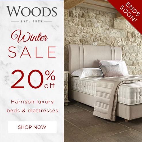 woods-furniture.co.uk - Winter Sale 20% Off Harrison Beds & Mattresses