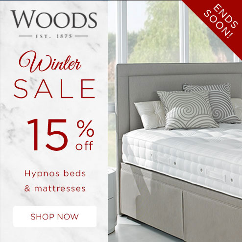 woods-furniture.co.uk - Winter Sale 15% off all Hypnos Beds & Mattresses