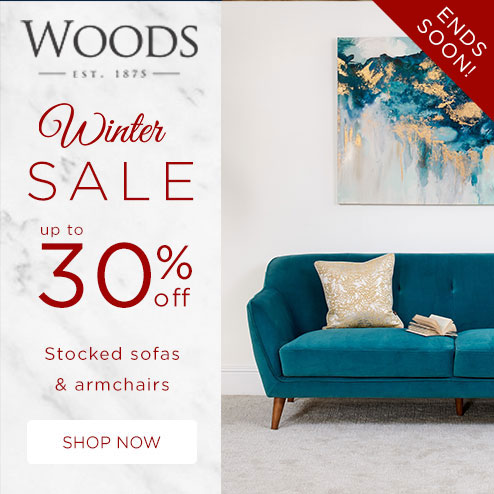 woods-furniture.co.uk - Winter Sale Up to 30% Off all Stocked Sofas & Armchairs