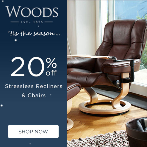 woods-furniture.co.uk - 20% Off Stressless Recliners & Sofas
