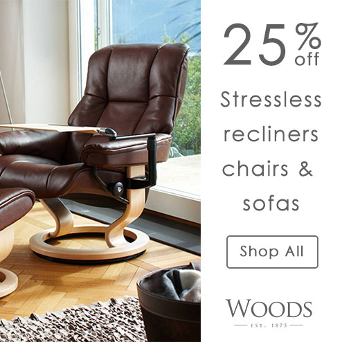 woods-furniture.co.uk - 25% Off All Ekornes Stressless Recliners, Sofas and Chairs